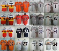 astros baseball team - 30 Teams Cheap Stitched Houston Astros Carlos Correa Jose Altuve Nolan Ryan Baseball Jersey Color Blue Orange White Gray Rainbow