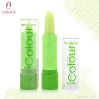 Cheap Wholesale-Heng Fang Natural Fruity Magic Green Lipstick Moisturizing Waterproof Lip stick Mood Lipstick