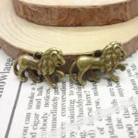 antique bronze lion - 30 Vintage Charms Lion Pendant Antique bronze Fit Bracelets Necklace DIY Metal Jewelry Making Charms