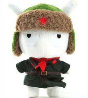 baby military uniforms - Original XIAOMI cm Mi Rabbit Toy Military Uniform Memorial Edition Mitu Rabbits Doll Cute Bunny Baby Plush Toys Freeshipping