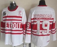 arri l - 2016 New Detroit Red Wings Steve Yzerman Jersey th Anniversary Patch White Alternate Vintage Throwback Hockey Jerseys New Arri