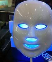Wholesale 7 colors led beauty mask Photon pdt led light therapy equipment for skin rejuvenation DHL