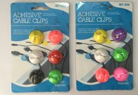 Wholesale 6pcs pack Cable Clips Cable Drops Cable Drop Bright Muted color multipurpose cable clips