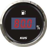 Wholesale 52mm Digital numerical fuel level gauge mA signal stainless steel bezel black face for universal car truck