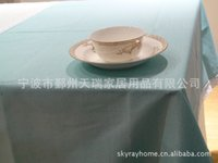 Wholesale Rui Shi can simply plain linen table cloth tablecloths tablecloth purplish pink orange color multi standard