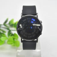 balls silicone watch - New style Creative circular fashion watch mirror LED BALL watch LED Calendar watch X60MPJ754W M2