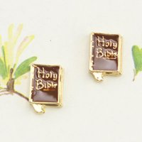 bible types - 20pcs good qualtiy new type alloy holy bible book floating charms for glass living memory lockets