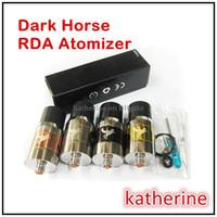 al por mayor caballo ajustable-Dark Horse RDA atomizador flujo de aire ajustable de 22 mm enorme de vapor 510 hilo para E Cig Cigarrillo MOD de la batería 4 en color Dark Horse atomizador