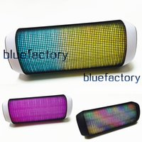 Wholesale Mini Bluetooth Wireless Music Speaker Portable with Streaming Colorful LED Lights for Samsung iPhone iPad Car Cell Phone MP3 Tablet PC
