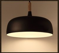 Wholesale Modern Minimalist Nordic Ikea Pendant Light Creative Dinning Room Bar American Country Black White Loft Office Pot Cover Lamp