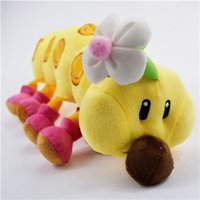 super worms - Nintendo Super Mario Bros Kawaii Anime Worm Stuffed Pillow Baby Toys Soft Carpenterworm Birthdat Gift Car Styling Doll