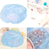 Wholesale Waterproof Women Lady Elastic Plastic Shower Bathing Hair Cap Hat