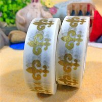 Wholesale Gold packing cartoon paper adhesive tape paper sticky tape