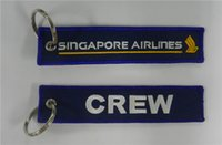 Metal Polyester airline pilot - Aviation Singapore Airlines Crew Keychain Key Chain Luggage Pilot Tags x cm