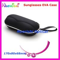 beveled glass - New Solid Black Beveled Plaid Eyeglass Glasses Sunglass Sunglasses Zipper EVA Case Box ML034