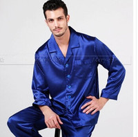 Wholesale Mens Silk Pajamas Pajama Pyjamas PJS Sleepwear Set U S S M L XL XXL XL Pants