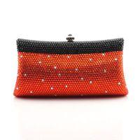 Wholesale luxury Evening Bag Fashion colourful clutch Handbag Bling Crystal Clutch Metal Hard Case HK crystal Bag Diamond Bag Jewellery Box