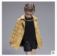 baby leather coats - Retail Baby Girls Winter Coats Jackets Kids Outwear Faux Chamois Leather Boutique Clothing Christmas Red Coat Plaid Coat Girls Winter Coat