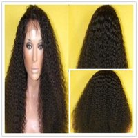 Cheap afro curly human hair front lace wig Best short hair lace front wig