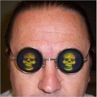 poker sunglasses - Hologram Poker Eye Glasses D Skull Sunglasses Novelty Funny Costume Holographic Eyeglasses