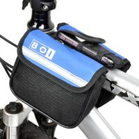 bicycle side baskets - Front Cycling Outdoor Traveling Road MTB Bicycle Bike Frame Saddle Bag Pannier Front Tube Bags Double Sides Bicycle Basket