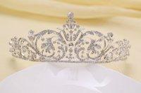 big hair pictures - 2015 bridal wedding tiara crown hair Headbands wedding accessories big tiaras real picture