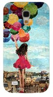 balloon skirt - Balloons Girl with red skirt cell phone back case cover skin Shell for Samsung galaxy S4 mini I9190