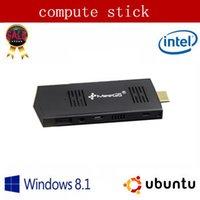 Wholesale Meegopad T02 GB Version Mini PC TV BOX Quad Core Intel Atom Z3735F Windows UBUNTU OS GB RAM PC stick mini computer