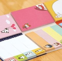 Wholesale Cute Sticky Memo Pad Lovely Sticky note Pad Set DIY School Pad Message Sticker