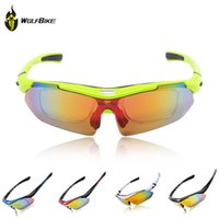 Wholesale Cycling Polarized Glasses Bicycle Sun Glasses Goggles Interchangeable Lens Sports Sunglasses Driving Racing Eyewear Sport Outdoor WOLFBIKE
