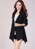 Wholesale 2016 Spring and Autumn new women thin coat Korean version of large size women s long coat