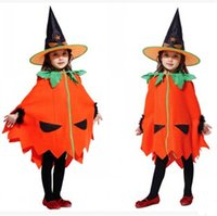 Wholesale children s clothing cape cloak pumpkin Halloween costumes performance anime role playing new free FedEx DHL RD