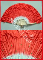 Hand Fans beautiful umbrellas - Chinese Style Nice Ballet Dancing Fan Dyed into Colors Available Beautiful Short Dancing Fan