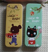baby bear pictures - Tin Pencil Case lucky baby sweet bear picture baby gift studen tin box fc ca fashion tin can valueble case