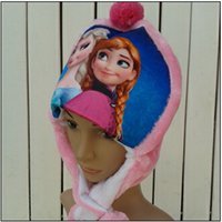 Wholesale Frozen Trapper Hats for Children and Adults types Autumn and Winter Plush hat Elsa and Anna Cartoon Character Hat