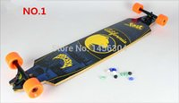 Wholesale quot Downhill Freestyle skate longboard complete Maple long board skateboard Gift tools nuts bearing safety