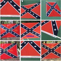 Wholesale Confederate Rebel Civil War Flag Confederate Flag Confederate Battle Flags Two Sides Printed Flag National Polyester Flags