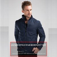 anti knife - Tactical gear anti cut knife cut resistant clothing anti stab proof jacket coat security clothing stichsichere weste cut resistant stab resi