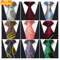 wholesale silk ties - Assorted Mens Tie Neckties Silk Fashion Classic Handmade Wedding High Quality Paisley Stripes Plaids Dots