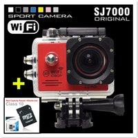 action camcoder - SJ7000 Action Camera Wifi Full HD inch LCD Driving Camera GoPro Style P Waterproof Extreme Mini Camcoder GB card Extra Battery