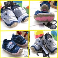 Cheap Cartoon denim stick with soft bottom toddler shoes. 11,12,13CM elastic band can not afford anti-shedding boy walking shoes 8pair 16pcs H