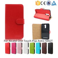 Wholesale 2015 Hot Sale Flip Phone Stand Wallet Leather Case For Alcatel One Touch Pop Astro T With Holder Phone Cover