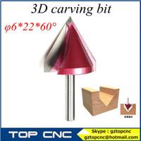 cnc router bits - 5pcs solid carbide D wood router bit v shape cnc tools