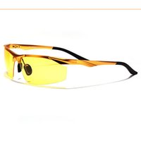 Wholesale Night Vision Polarized Sunglasses Men Aluminum Magnesium Alloy Semi Rimless Frame Outdoor Sport Glasses for Cycling Driving Gafas Oculos De