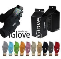 Wholesale 200cs colors retail bag Multi purpose Unisex iGlove Capacitive Screen Gloves For iPhone S iphone HTC ipad iGloves Gloves D540