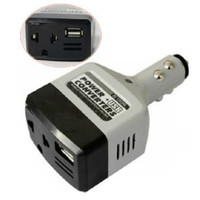 Wholesale 1 DC V to DC220V Auto Car Power Converter Inverter Adapter Charger With USB Charge