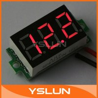 battery wire gauge - 100pcs quot Two wire Digital DC Voltmeter Gauge LED Tester Red V Voltage Panel Meter Battery Monitor STM8S003