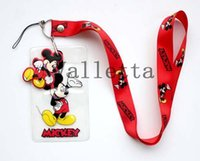 cell phone straps - New red mickey Lanyard strap Cell Phone ID Key Holder pouch soft dangler