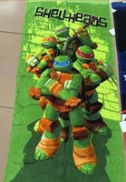 Wholesale 2015 New Children s Sarongs ninja turtles Cotton Kids Towel cm