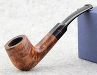 Cheap Wholesale-Fine A Pipe Briar 9mm Smoking Tabocca Pipe FREE SHIPPING